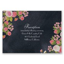 Chalkboard Peonies - Posie Pink - Reception Card