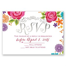 Brilliant Bouquet - Silver - Foil Response Card