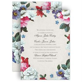 watercolor wedding invitations floral dream invitation - Watercolor Wedding Invitations