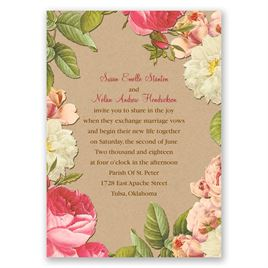 Lush and Luxurious - Invitation