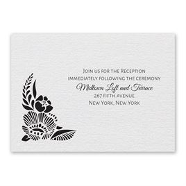Woodland Window - Reception Card