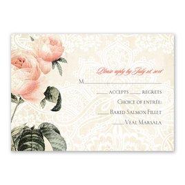Wedding Response Cards: Vintage Garden Response Card