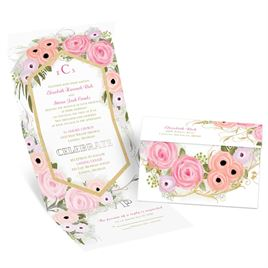Garden Fresh - Silver - Foil Seal and Send Invitation