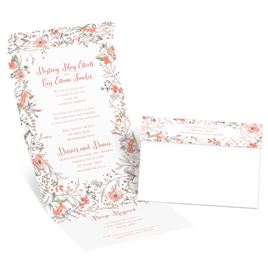 Wildflower Frame - Rose Gold - Foil Seal and Send Invitation
