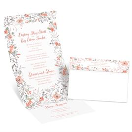 Wildflower Frame - Silver - Foil Seal and Send Invitation