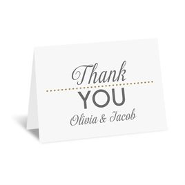 All that Jazz - Gold - Foil Thank You Card