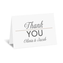 All that Jazz - Rose Gold - Foil Thank You Card