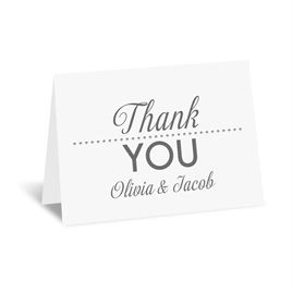 All that Jazz - Silver - Foil Thank You Card