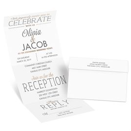 All that Jazz - Rose Gold - Foil Seal and Send Invitation