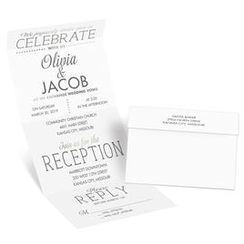 All that Jazz - Silver - Foil Seal and Send Invitation