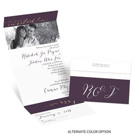 Simply Sophisticated - Gold - Foil Seal and Send Invitation