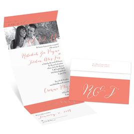 Simply Sophisticated - Rose Gold - Foil Seal and Send Invitation
