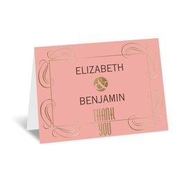 Modern Romance - Gold - Foil Thank You Card