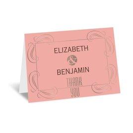 Modern Romance - Rose Gold - Foil Thank You Card