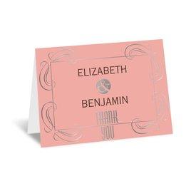 Modern Romance - Silver - Foil Thank You Card