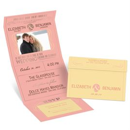 Modern Romance - Rose Gold - Foil Seal and Send Invitation