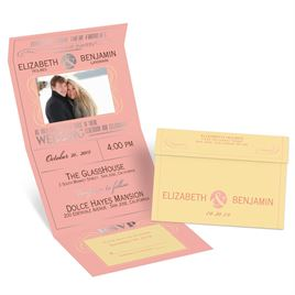 Modern Romance - Silver - Foil Seal and Send Invitation