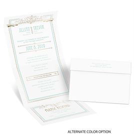 Elegant Elements - Gold - Foil Seal and Send Invitation