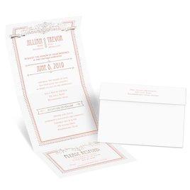 Elegant Elements - Rose Gold - Foil Seal and Send Invitation