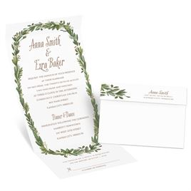 Naturally Perfect - Gold - Foil Seal and Send Invitation