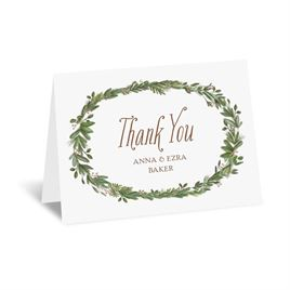Naturally Perfect - Rose Gold - Foil Thank You Card