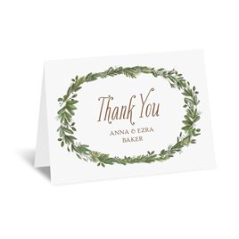 Naturally Perfect - Silver - Foil Thank You Card