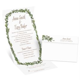 Naturally Perfect - Silver - Foil Seal and Send Invitation