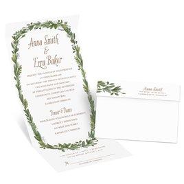 Naturally Perfect - Silver - Foil Seal and Send Invitation