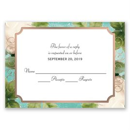Boho Elegance - Rose Gold - Foil Response Card
