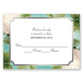 Boho Elegance - Silver - Foil Response Card