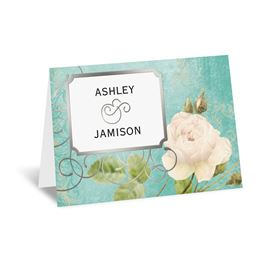 Boho Elegance - Silver - Foil Thank You Card