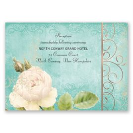 Boho Elegance - Rose Gold - Foil Reception Card