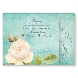 Boho Elegance - Silver - Foil Reception Card