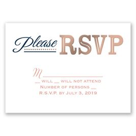 Modern Sparkle - Rose Gold - Foil Response Card