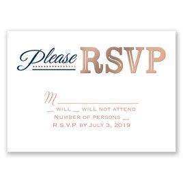 Modern Sparkle - Rose Gold - Foil Response Card