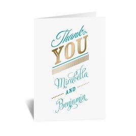 Modern Sparkle - Gold - Foil Thank You Card