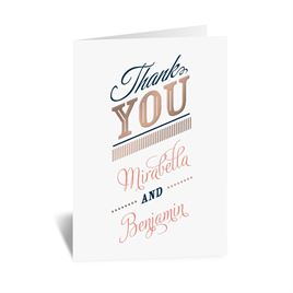 Modern Sparkle - Rose Gold - Foil Thank You Card