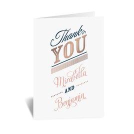 Modern Sparkle - Rose Gold - Foil Thank You Card