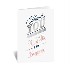 Modern Sparkle - Silver - Foil Thank You Card