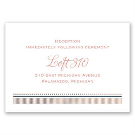 Modern Sparkle - Rose Gold - Foil Reception Card