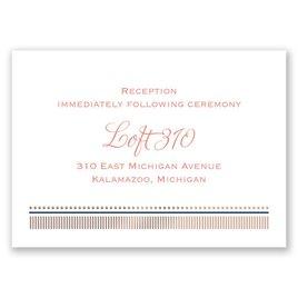 Modern Sparkle - Rose Gold - Foil Reception Card
