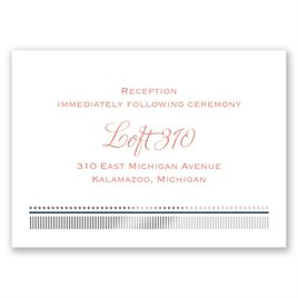 Modern Sparkle - Silver - Foil Reception Card