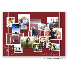 """Couple""""s Collage - Gold - Foil Invitation"""