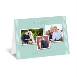 Couples Collage - Silver - Foil Thank You Card