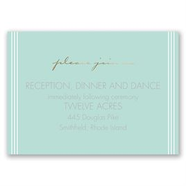 Couples Collage - Gold - Foil Reception Card