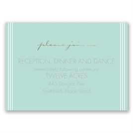 Couples Collage - Rose Gold - Foil Reception Card