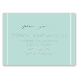 Couples Collage - Silver - Foil Reception Card