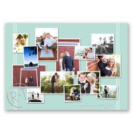 Couples Collage - Silver - Foil Invitation
