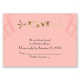 Love Captured - Gold - Foil Response Card