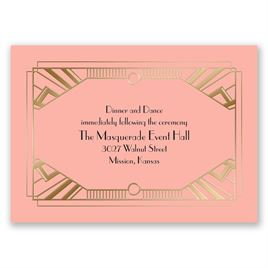 Love Captured - Gold - Foil Reception Card
